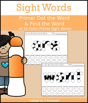 Sight Word Primer Dot the Word & Find the Word