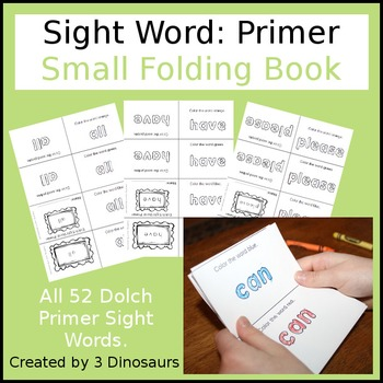 Sight Word: Primer Small Folding Book