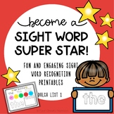 Sight Word Printable Activities