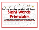 FREE Sight Word Printable Center