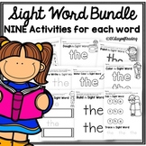Multisensory Sight Word (Red Word) Printable Center Activi