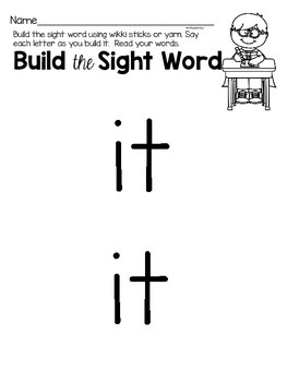 Sight Word Printable Center Activities {it}