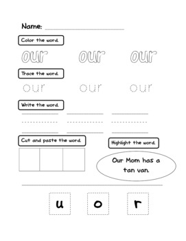 FREEBIE Sight Word Printable for Kindergarten