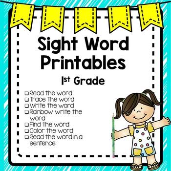Sight Word Printables (1st Grade)