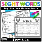 Fry Sight Word Printables