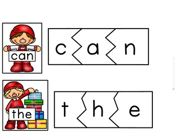 Sight Word Printables, Centers, Games (Christmas/December)