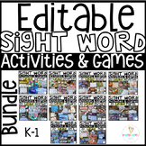 Sight Word Printables, Activities and Games for the Year Editable GROWING Bundle