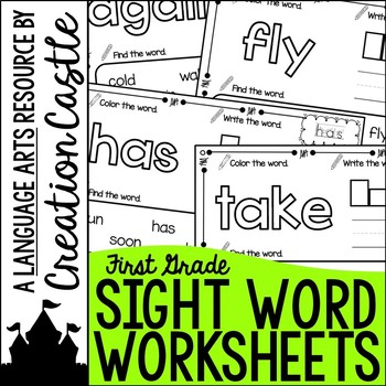 Sight Word Printables with First Grade Sight Words