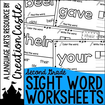 Sight Word Printables - Second Grade