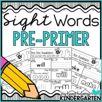 Sight Word Printables {Pre-Primer Edition}
