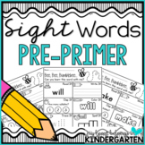 Sight Word Worksheets {Pre-Primer Edition}