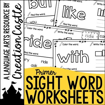 Sight Word Printables - Primer