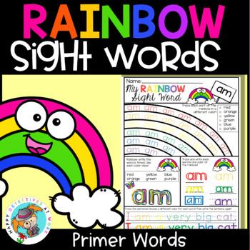 Sight Word Printables (Rainbow theme: Primer Edition)