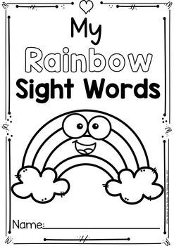 Sight Word Printables (Rainbow theme: The Bundle)