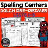 Sight Word Printables - Superhero Spelling - Dolch Pre-Primer