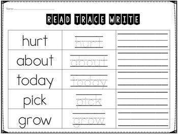 Third Grade Sight Word Printables