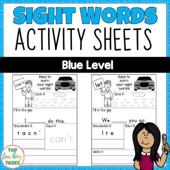 New Zealand Sight Words - Blue Level Activity Sheets