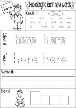 New Zealand Sight Words - Magenta Level Activity Sheets