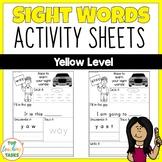New Zealand Sight Words | Yellow Level Activity Sheets