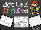 Sight Word Printables {Pre-Primer List +}