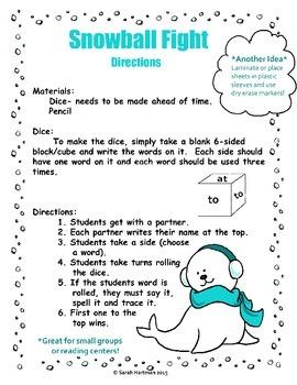 Sight Word Printing