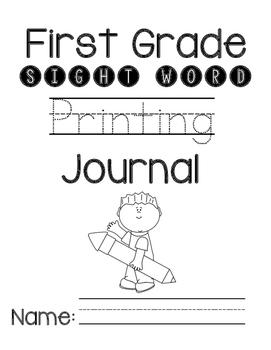 Sight Word Printing Journal