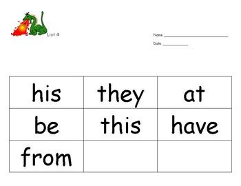 Sight Word Program