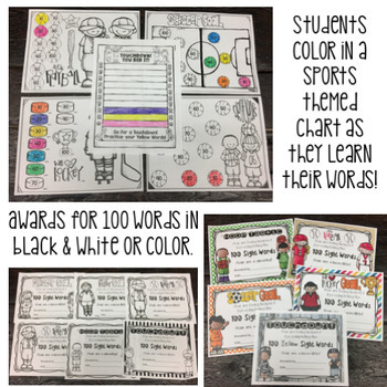 Fry Sight Word Program:1st-5th Words BUNDLE - Lists, Assessments, & Word Cards