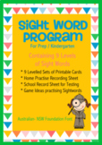 Sight Word Program- printable for Prep / Kindergarten