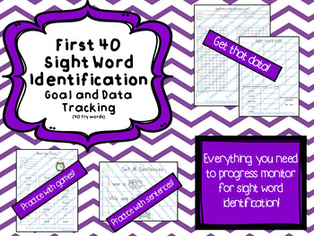 Sight Word Progress Monitoring-First 40 Words