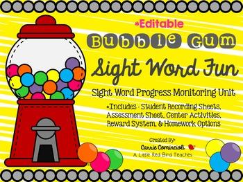 Sight Word Progress Monitoring System {Editable}