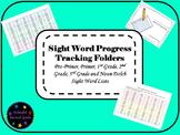Sight Word Progress Tracking Folder