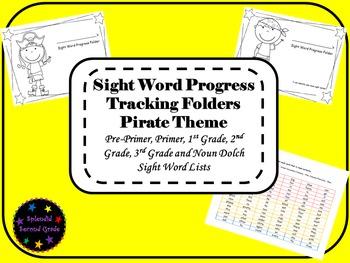 Sight Word Progress Tracking Folder - Pirate Theme