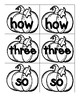 Sight Word Pumpkin Cards in Black & White