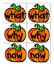 Sight Word Pumpkin Cards in Color