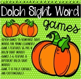 Sight Word Pumpkin Game Bundle