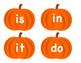 Sight Word Pumpkins