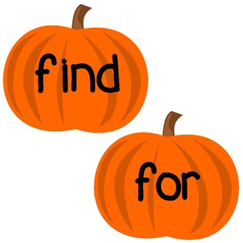 Sight Word Pumpkins (Pre-K Dolch Sight Words)