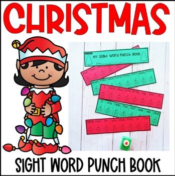 Sight Word Punch Book- Christmas
