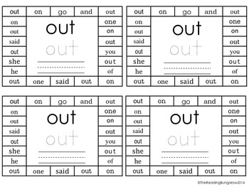 Sight Word Punchers BUNDLE - Dolch Word Lists 1-11