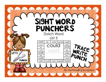 Sight Word Punchers - Dolch Word List 3