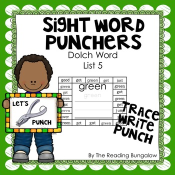 Sight Word Punchers - Dolch Word List 5