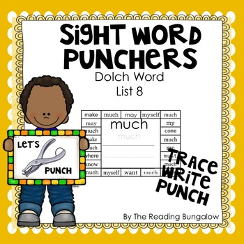 Sight Word Punchers - Dolch Word List 8