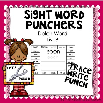 Sight Word Punchers - Dolch Word List 9