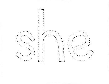 Sight Word Push Pin Art set 2