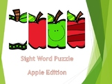 Sight Word Puzzle: Apple Edition