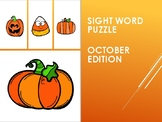 Sight Word Puzzle: October Edition