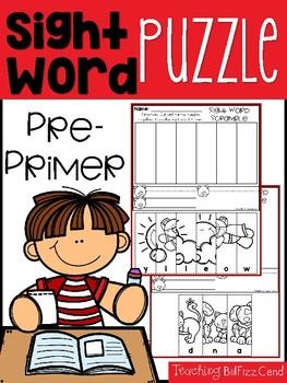 Sight Word Puzzle (Pre-Primer)