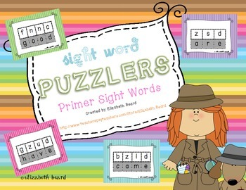 Sight Word Puzzlers: Primer Sight Words