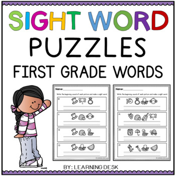 First Grade Sight Words Activity Worksheets (Secret Words)